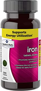 Members's Mark Iron tablets 65mg (One bottle (300 tablets))