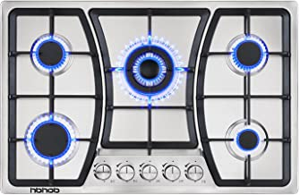Gas Cooktop 30 inches 5 Burners Gas Stove gas hob stovetop Stainless Steel Cooktop 5 Sealed Burners Cast Iron Grates Buil...