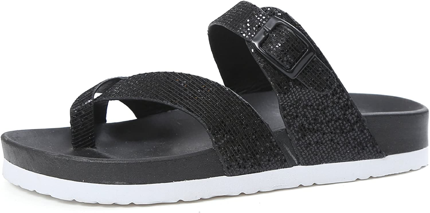 KAI-Flat shoes sandals female shoes all-match flat thick soled shoes lady Muffin,black,Thirty-nine