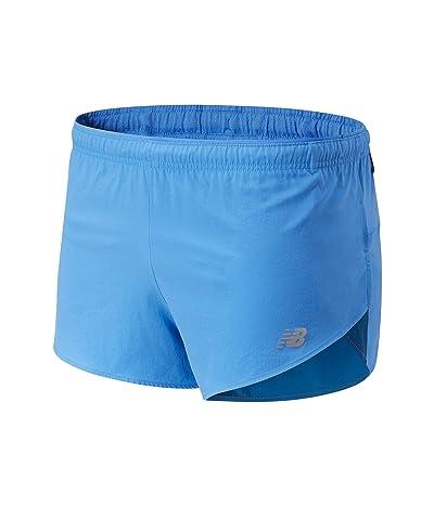 New Balance Impact Run 3-Inch Split Shorts (Faded Cobalt) Men