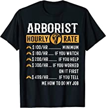 Funny Arborist Gifts - Arborist Hourly Rate T-Shirt