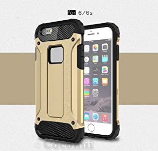 Cocomii Commando Armor iPhone 6S/6 Case New [Heavy Duty] Premium Tactical Grip Dustproof Shockproof Hard Bumper [Military Defender] Full Body Dual Layer Rugged Cover for Apple iPhone 6S/6 (C.Gold)