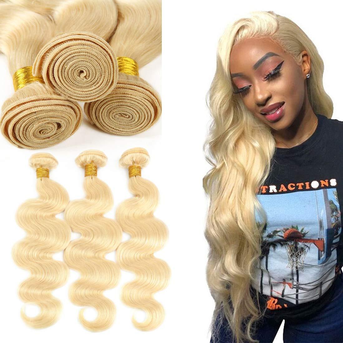 Jolibabe Attention brand 613 Blonde Houston Mall Virgin Hair 3 Wave Brazilian Bundles Body Vi