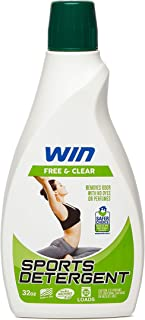 Win Sports Detergent - Free & Clear (Green) 1 Bottle - Specially Formulated for Sweaty Workout Clothes - Removes Odor from Running Gym and Activewear Apparel and Football Hockey Uniforms