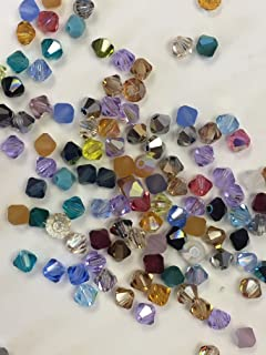 144 pcs 4mm Mix Color Genuine Swarovski crystal 5301 / 5328 XILION Loose Bicone Beads from Mychobos (Crystal-Wholesale)