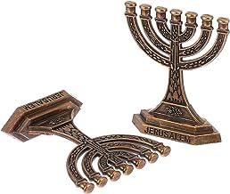 Garneck Candelabro de metal, 7 galhos, castiçais, dourado, vintage, decoração de casa, mesa de jantar religiosa, peça cent...