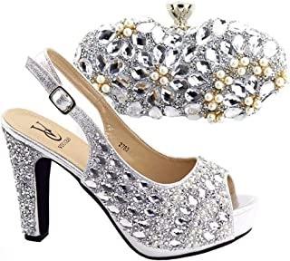 Gold Color Shoes and Bag Sets Italian Shoes with Matching Bags for Women African Shoes and Bag Set for Wedding Party