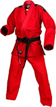KO Sports Gear Red Gi Uniform Set 100% Cotton Pearl Weave Gi - KOmpetition Series - BJJ Jiu Jitsu Kimono and Pants