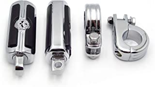 """SMT-1 1/4"""" Highway Skull Foot Pegs P-Clamps Compatible With Harley Sportster 883 1340 XL1200 [B00RUE0ULI]"""