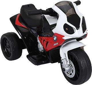 HOMCOM HomComMoto Eléctrica BMW Triciclo Trimoto Infantil 6V Motobicicleta para Niños 18-36 Meses 66x37x44cm Rojo