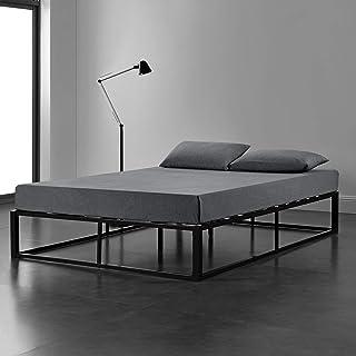 [en.casa] Lit Double en Métal Cadre de lit Double pour Adultes et Enfants Acier Revêtu par Poudre Couchage 180 x 200 cm Ta...