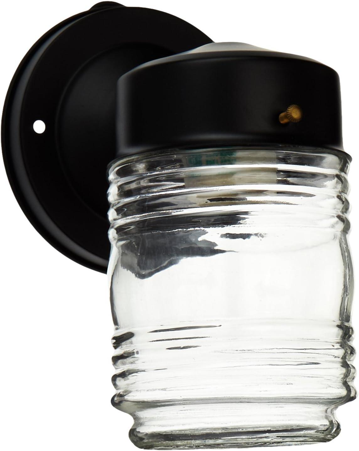 Budget Cast Max 84% OFF Aluminum Award-winning store Jelly Jar Light Outdoor Black in