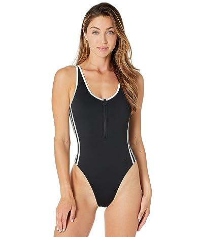 adidas Originals 3-Stripes Swimsuit (Black) Women