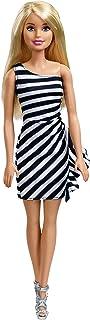 Barbie Glitz Doll, Black & White Stripe Ruffle Dress