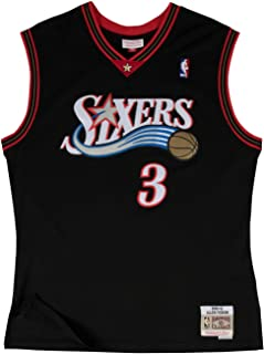 d1f5a7d79a1 Allen Iverson Philadelphia 76ers Mitchell and Ness Men's Black Throwback  Jesey