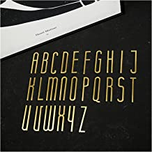ZHHOOHAG Huisborden 6-10cm Massief Messing Letters Messing Nummer DIY Muurbrief Decoratieve Deurplaat Nummer Huisnummer Za...