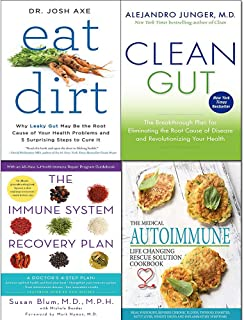 Eat dirt, clean gut, medical autoimmune life and immune system recovery plan 4 books collection set