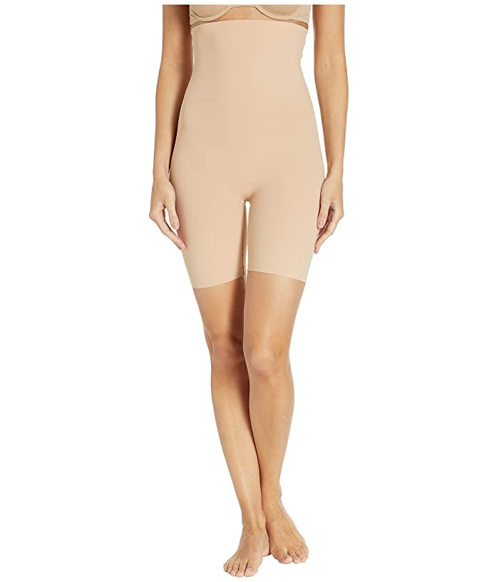1930s Clothing Commando Classic Control High-Waisted Shorts CC117 Beige Womens Underwear $64.00 AT vintagedancer.com