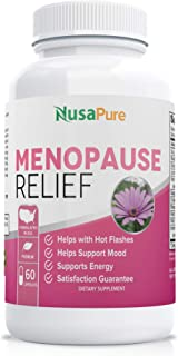 Menopause Supplements (Gluten Free) for Hot Flash Relief: Black Cohosh and All Natural Ingredients: Perimenopause Suppleme...