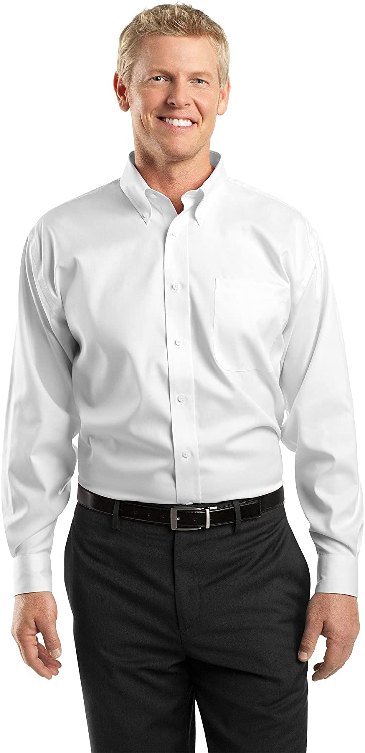 Red House Men's Tall Non Iron Pinpoint Oxford LT White