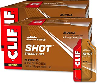 CLIF SHOT - Energy Gels - Mocha- Non-GMO - Non-Caffienated - Fast Carbs for Energy - High Performance & Endurance - Fast F...