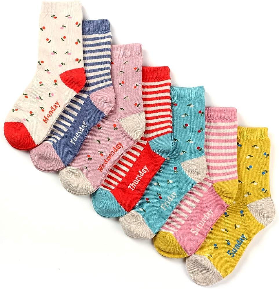 COTTON DAY Kids Girls Fun Socks Novelty Under blast sales Design Bright Max 42% OFF Colors