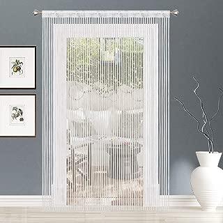 AIZESI 2PCS String Curtain Panel, Rainbow Door Wall Window Doorways Panel Fly Screen Fringe Room Divider Blinds, Decorative Tassel