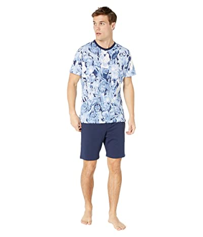 HOM Papagayo Short Sleepwear (Blue) Men