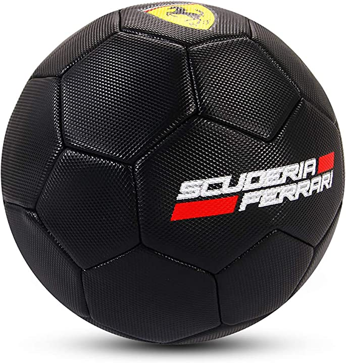 Pallone calcio scuderia ferrari pallone nero misura 3 diametro 19cm F659