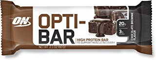 OPTIMUM NUTRITION Opti-Bar, Low Sugar Meal Replacement Whey Protein Bar, Flavor: Chocolate Brownie, 12 Count