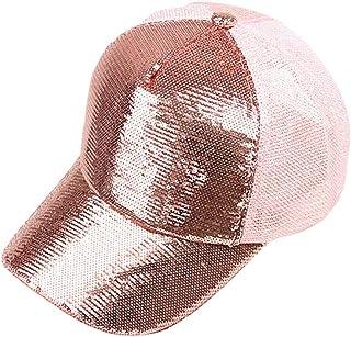 Lefthigh Unisex Outdoor Sequins Flash Baseball Caps, Adjustable Dance Sports Hat Toppe