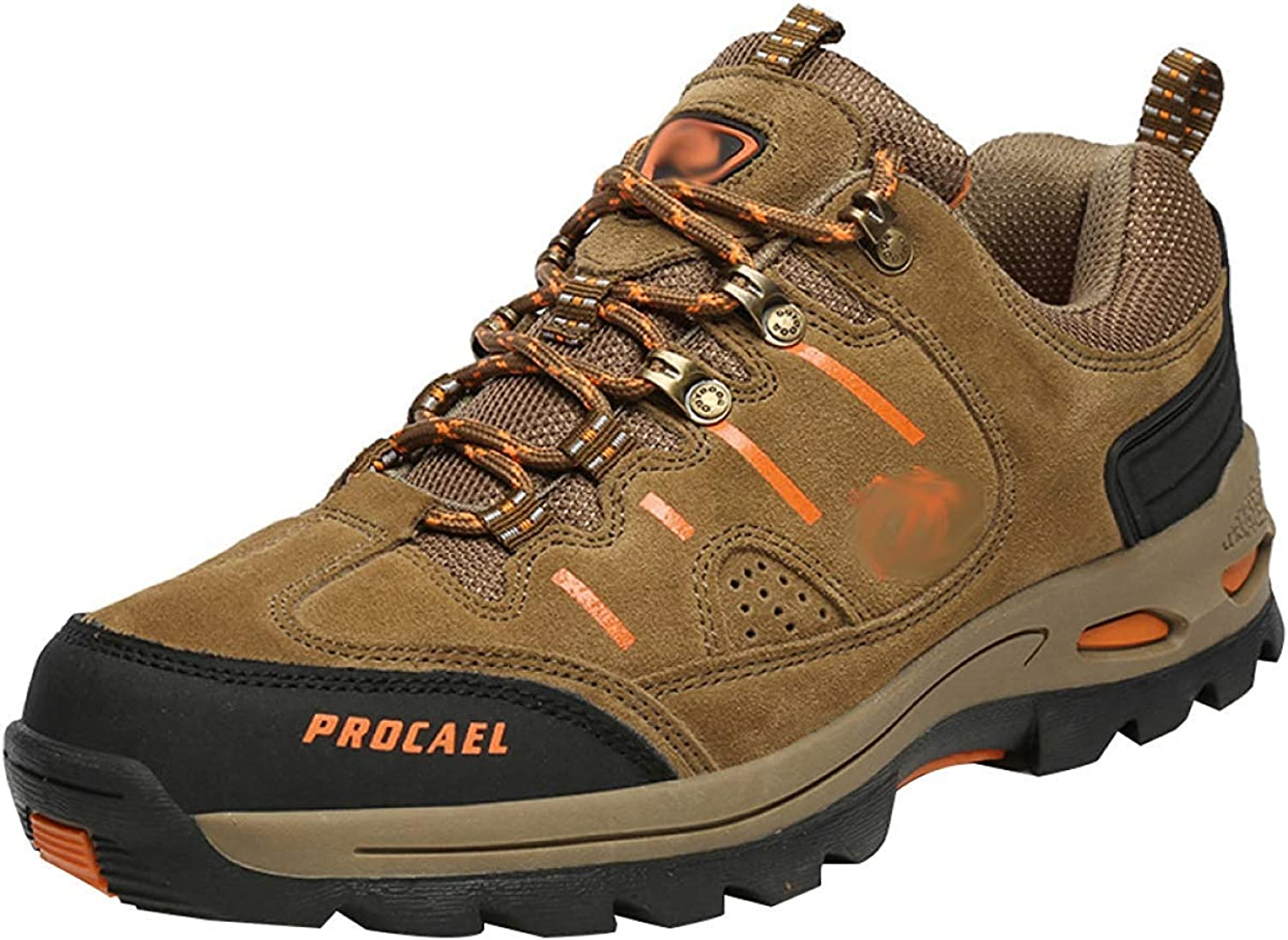 Men's Walking Boots Leather Hiking shoes Sneakers For Outdoor Trekking Training Casual Work (color   23, Size   43EU)
