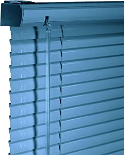 CHICOLOGY Custom Made Corded 1-Inch Aluminum Mini Blind, Blackout Horizontal Slats, Inside Mount, Room Darkening Perfect for Kitchen/Bedroom/Living Room/Office and More - 24