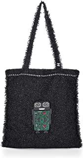 CHANEL Black Tweed Robot Tote (Pre-Owned)