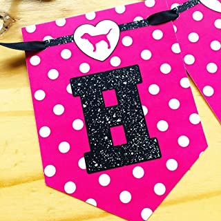 VS Pink Banner w/Matching Ribbon