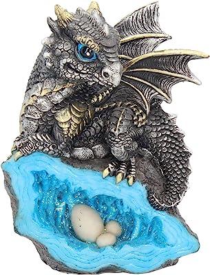 Nemesis Now Nest Guardian Figurine 14cm Blue, Resin, One Size