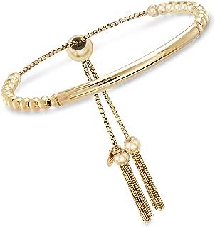 Ross-Simons Italian Beaded Bolo Bracelet