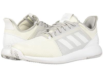 adidas adizero Defiant Bounce 2 (Footwear White/Footwear White/LGH Solid Grey) Men