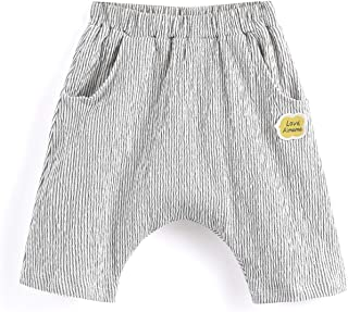 Aimama Toddler Striped Linen Pants