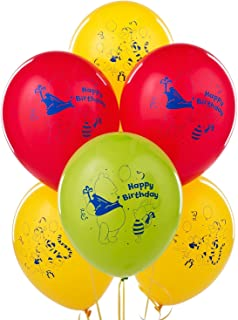 CelebrateExpress Winnie The Pooh Happy Birthday Latex Balloons (6) Party Supplies