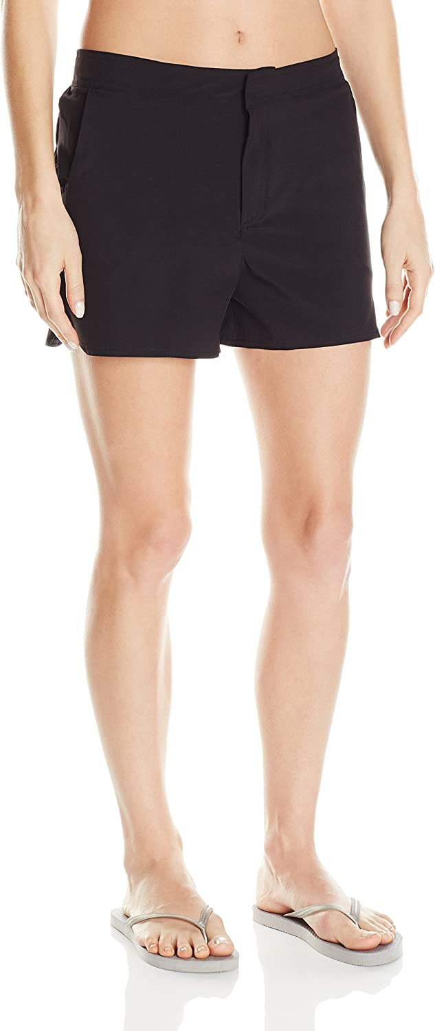 Christina Womens Solid Tactel Boardshort Board Shorts