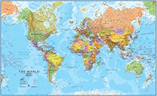 Maps International Giant World Map - Mega-Map of the World - 80 x 46 - Full Lamination