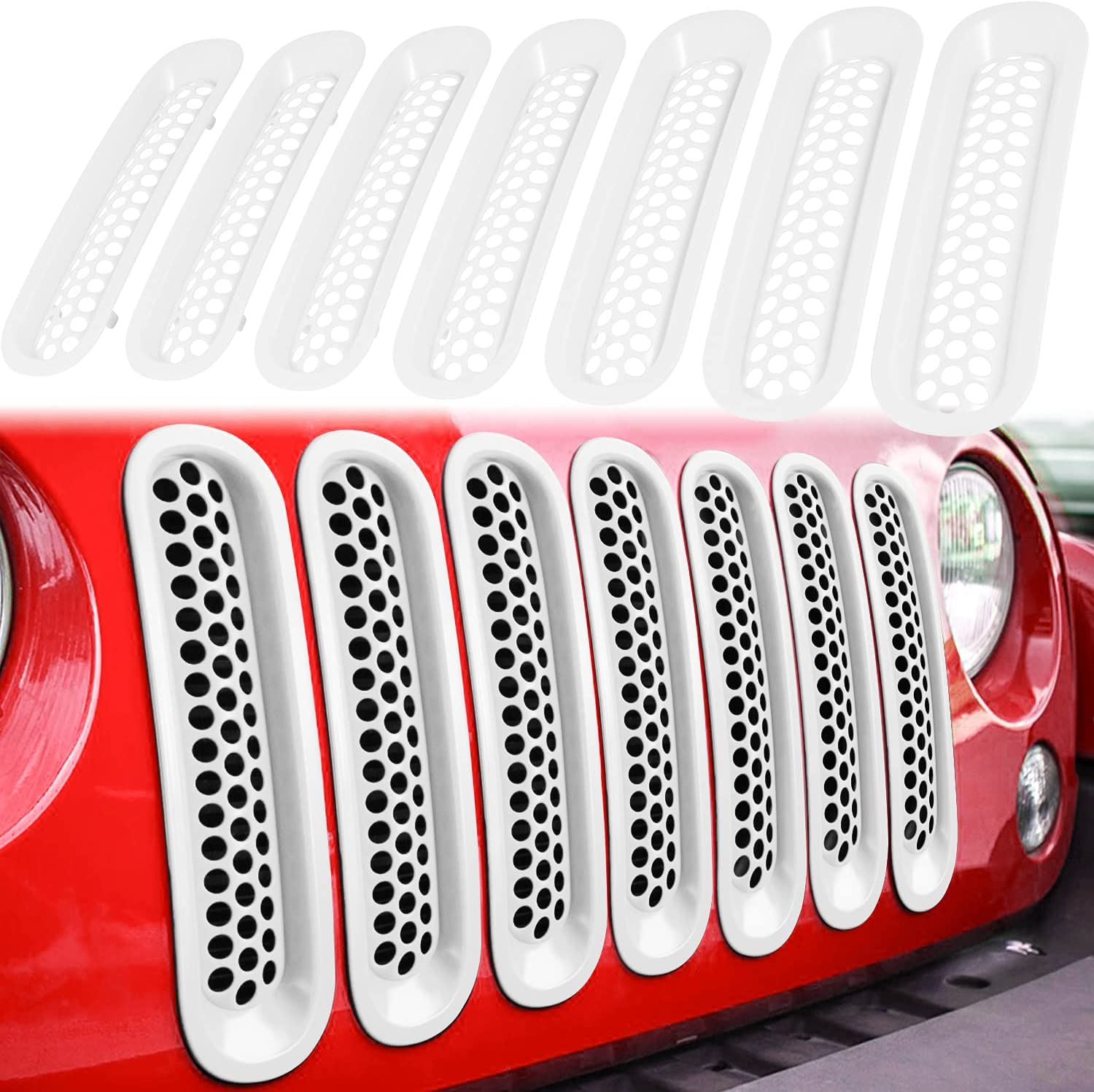 E-cowlboy 7PCS Front Grill Superlatite Mesh Clip-in Grille Department store for Inserts Guard