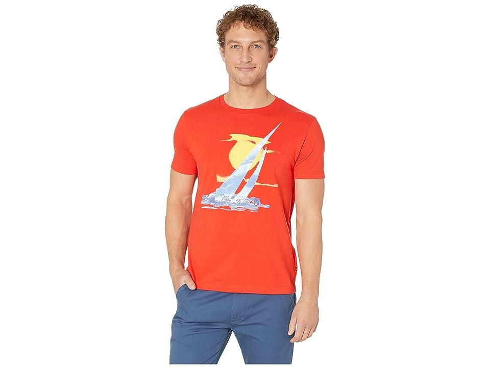 Nautica Artist Series J-Class + Waves T-Shirt (Firey Red) Men