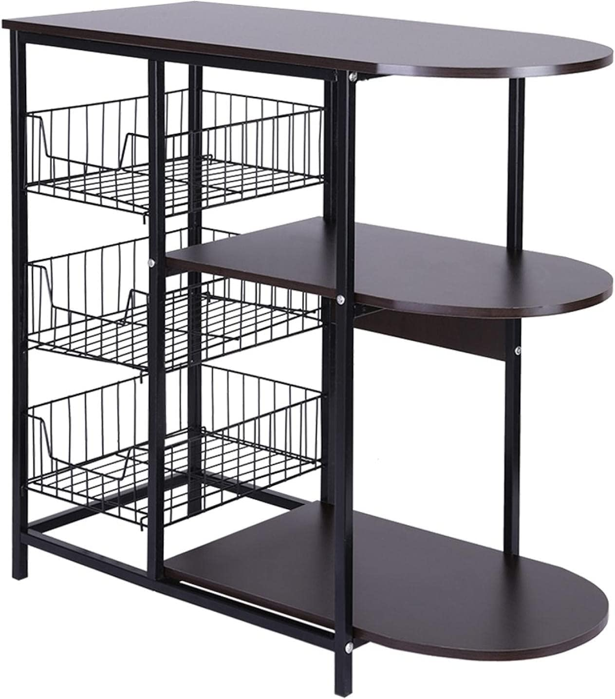 GMSWCG Kitchen Baker's Rack Coffee Online limited product with Manufacturer regenerated product Wire Basket Bar Mi