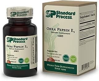 Standard Process - Okra Pepsin E3 - Intestinal Function Support Supplement, Okra, Buckwheat, Gluten Free - 90 Capsules