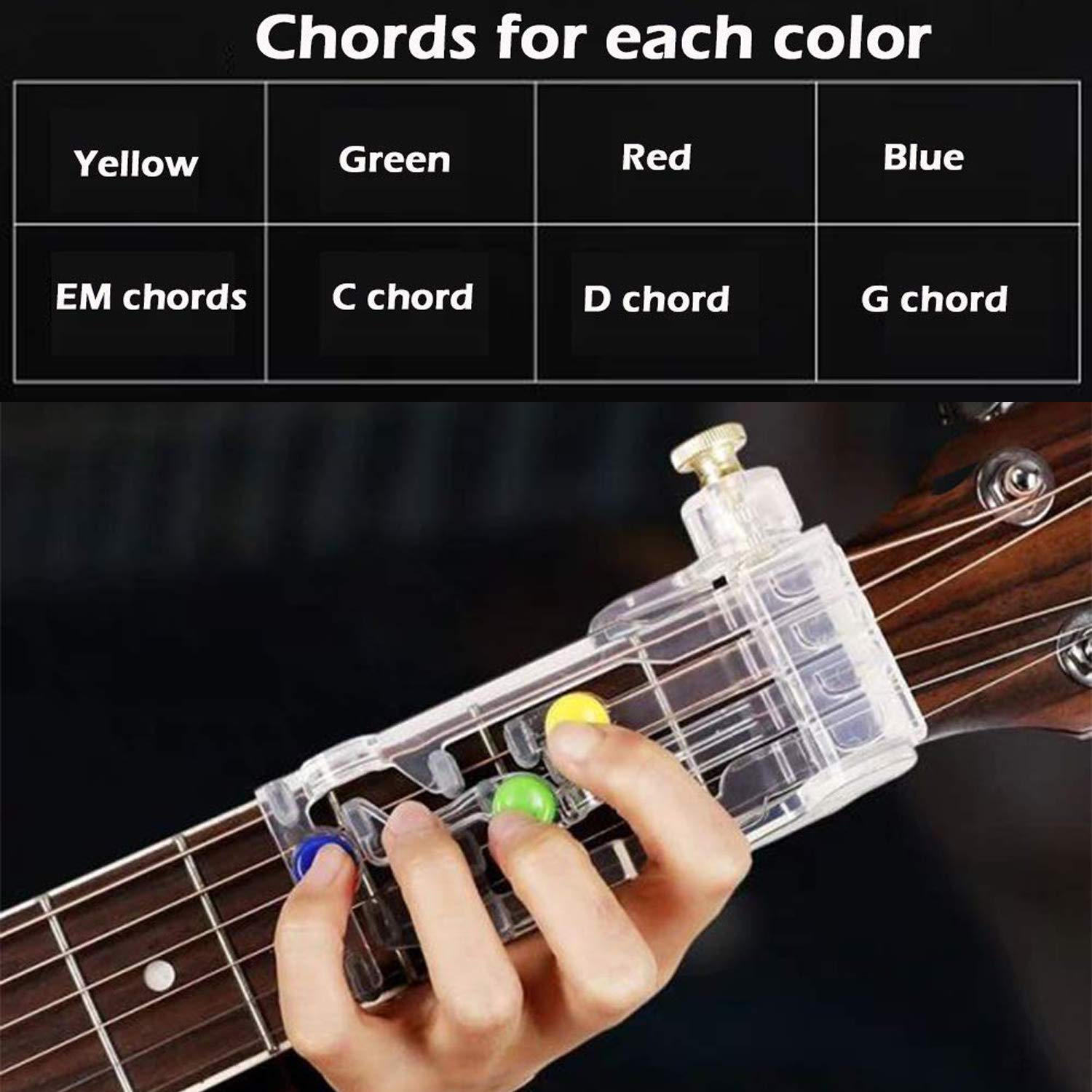 Guitar ord Trainer Folk Guitar Helper de aprendizaje Guitar ord Practice Assisted Tool para principiantes de guitarra: Amazon.es: Instrumentos musicales