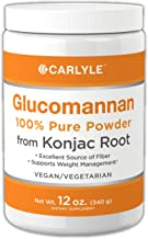 Glucomannan Powder | 12 oz | Vegan & Vegetarian | Non-GMO, Gluten Free | 100% Pure Konjac Powder Supplement | by Carlyle