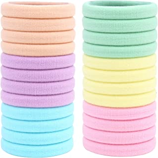 CCINEE Seamless Cotton Hair Bands, Candy Color Headband Scrunchies Hair Accessories For Any Hair-24Pieces