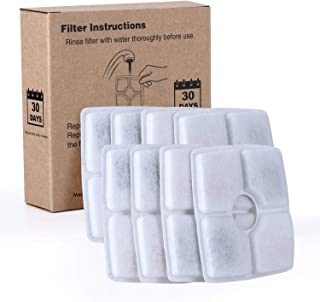 Semai Pet Fountain Filters, 8 Packs Carbon Replacement Filter for Cat and Dog Drinking Flower Fountain